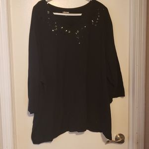 Beautiful Black 3/4 Sleeve Blouse